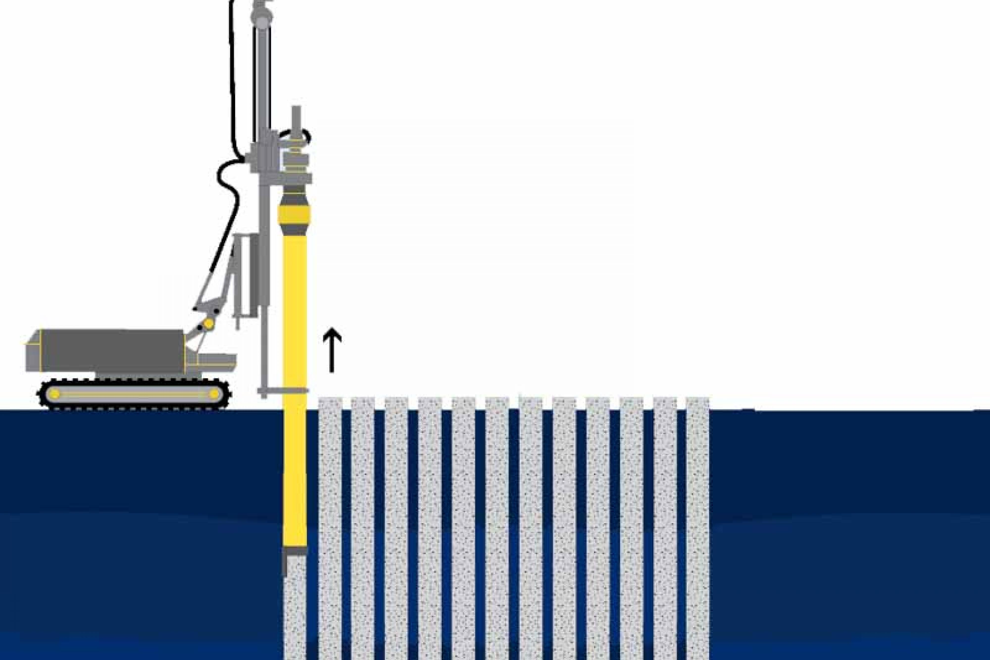 Secant piling graphic