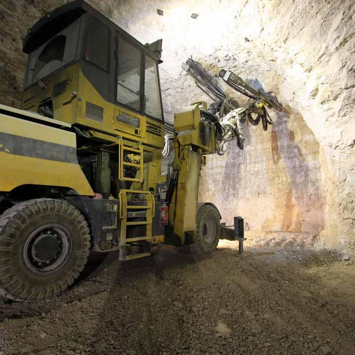 Large machine does underground mining work
