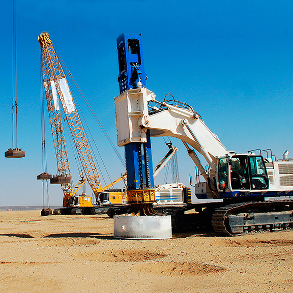Dynamic compaction machines and cranes