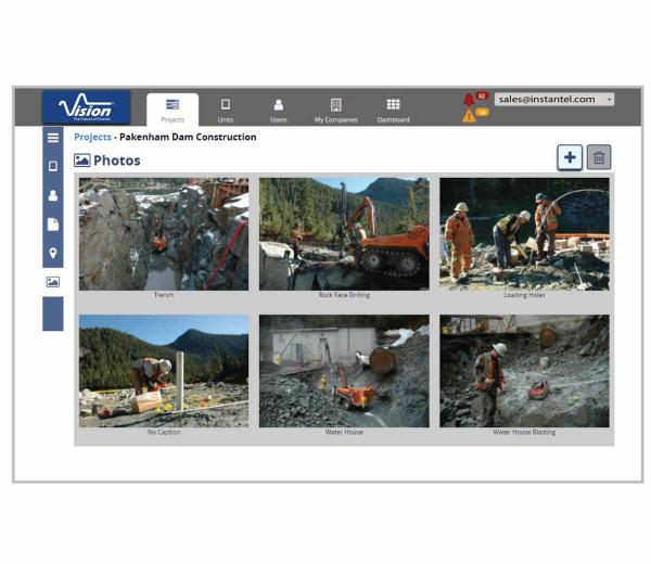 Vision software's photos interface