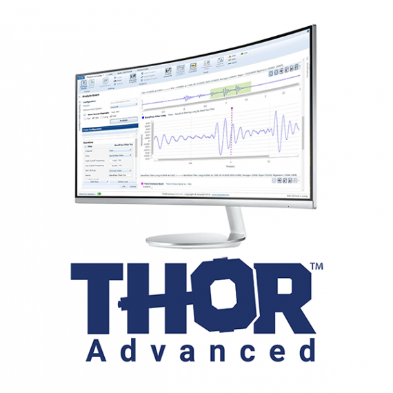 THOR Advanced displayed on monitor with logo below